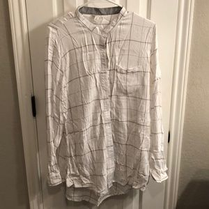 Cato XL Button Down Long Sleeve Blouse